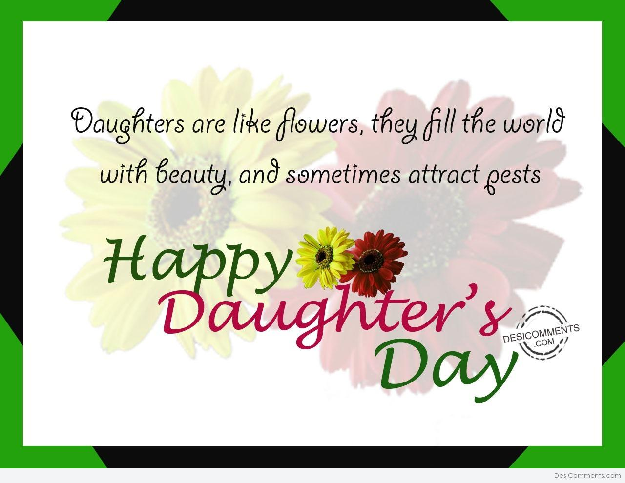 Mom Wallpapers Quotes In Hindi Daughters Are Like Flower Happy Daughter S Day