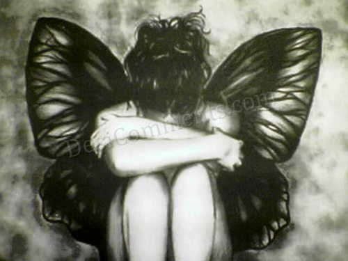 Sad Girl Quotes Wallpapers Sad Butterfly Desicomments Com