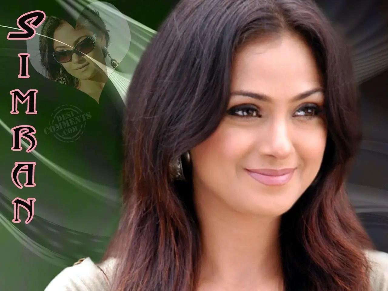 Beautiful Girl With Gun Wallpaper Simran Wallpapers South Indian Celebrities
