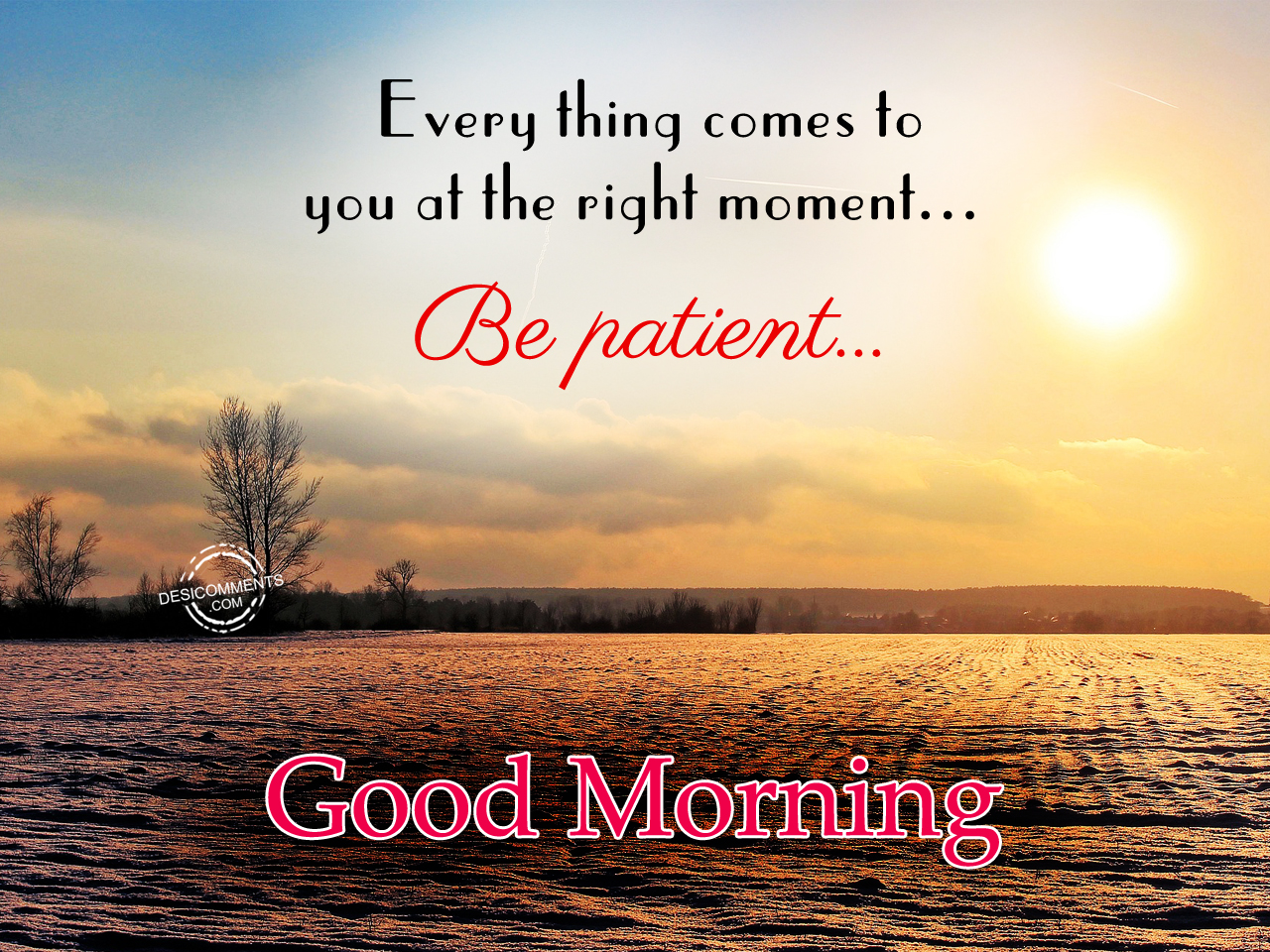 Download Sweet Quotes Wallpapers Good Morning Every Thing Comes To You At The Right