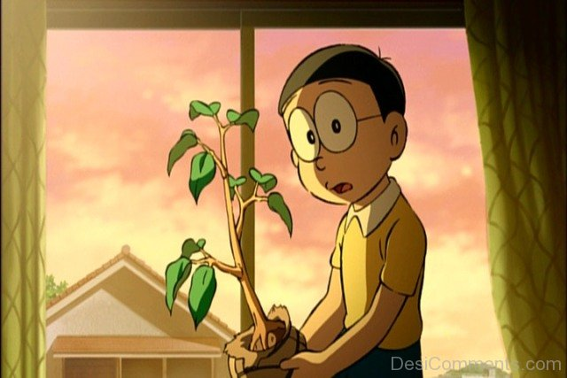 Happy Mood Quotes Wallpapers Afraid Image Of Nobita In Night Desicomments Com
