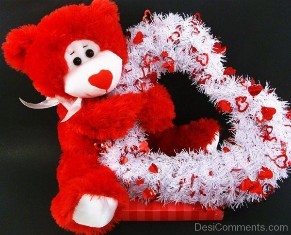 Cute Wallpapers With Quotes Hindi Cute Red Teddy Bear Desicomments Com