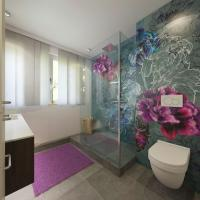 Badgestaltung mit Tapeten