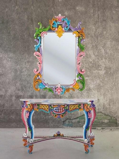 Fantasia console table wall mirror from the ibiza for Kare design tisch ibiza