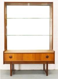Turnidge mid-century glass display cabinet - 1960s ...