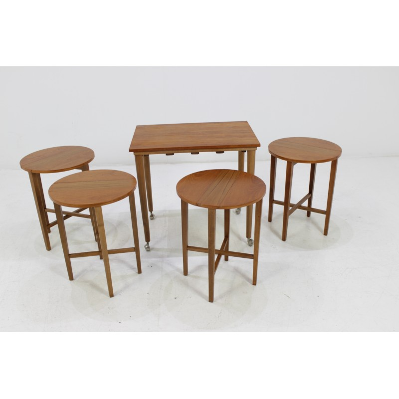 Set of Mid Century Nesting Tables, Designed by Poul Hundevad