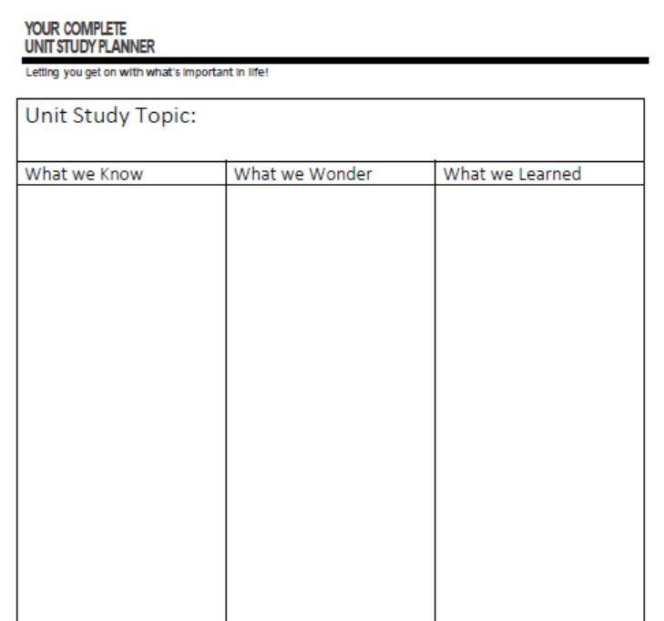 Homeschool Printables - homeschool schedule template