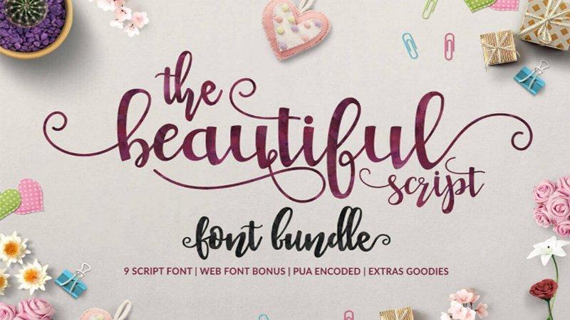 9 Beautiful Handwritten Modern Script Fonts Design3edge
