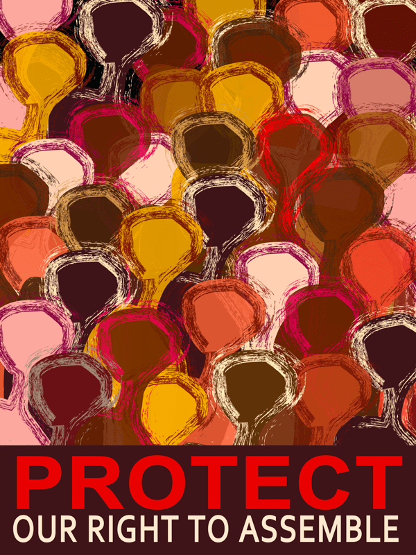 protest, bill of rights, right to assemble, political repression