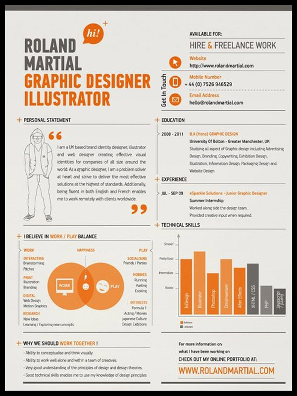 Graphic designer resume, tips and examples Photography, graphic