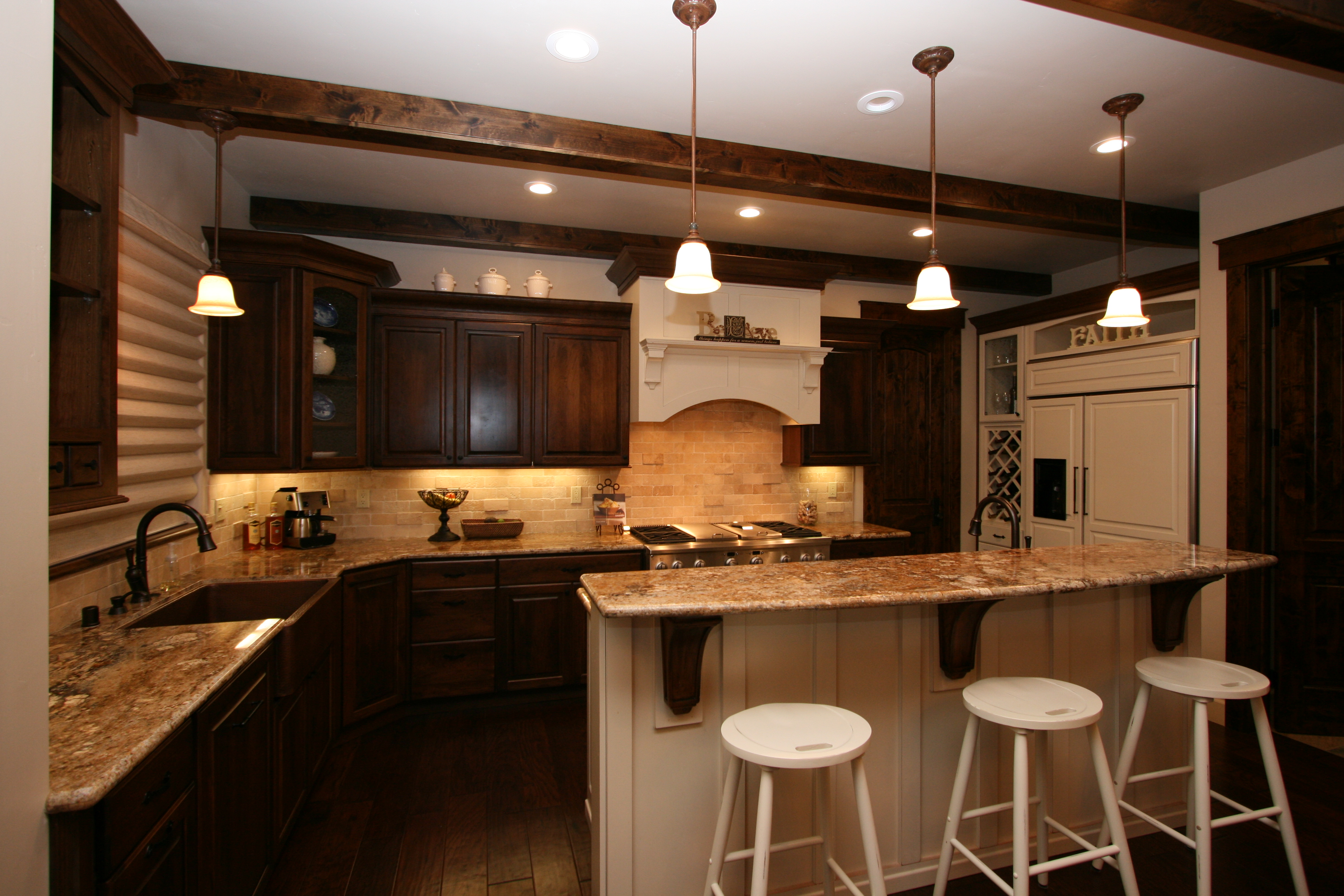 two toned old world two tone kitchen cabinets Two Toned Old World Kitchen