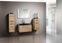 Badezimmermbel Set mit Glaswaschbecken 90 cm 349