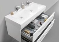 Design Doppelwaschtisch Badezimmer Set mit Unterschrank ...