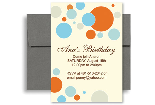 Free Party Invitation Template Word – Birthday Party Invitation Template Word