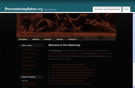 halloween website template - Kubrakubkireklamowe