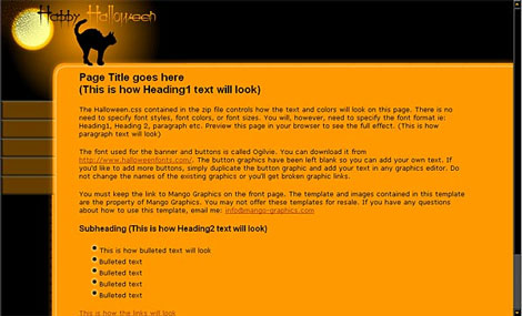 Free Halloween Graphic Design Resources \u2013 Day Eight Website Templates
