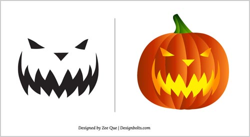 Halloween Free Scary Pumpkin Carving Patterns 2012 10 Scary