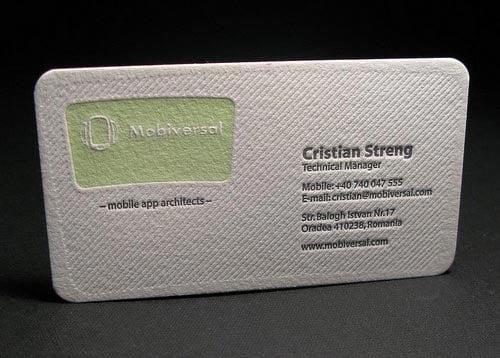 25 Beautiful  Cool Letterpress Business Card Design For Inspiration