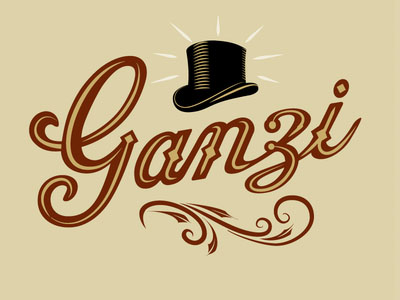 Old vintage style logo design   Ganzi