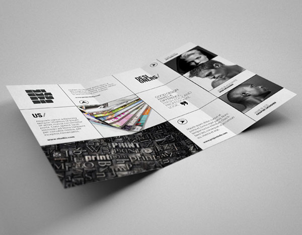 20+ Simple Yet Beautiful Brochure Design Inspiration  Templates - studio brochure
