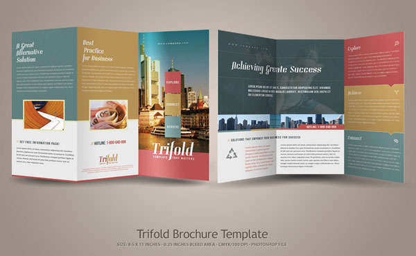 20+ Simple Yet Beautiful Brochure Design Inspiration  Templates - phamplet template
