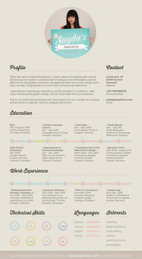 10 Interesting  Simple Resume Examples You Would Love To Notice - Simple Resume Design