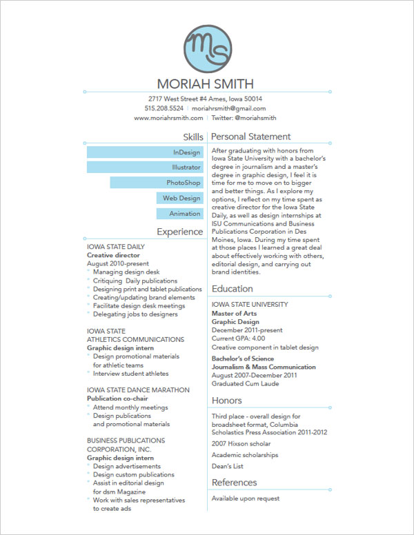 10 Interesting  Simple Resume Examples You Would Love To Notice - Resume Examples Graphic Design