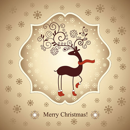 33 Best Free Christmas Icons, Vectors, PSD  Greeting Cards for 2013 - free xmas card template