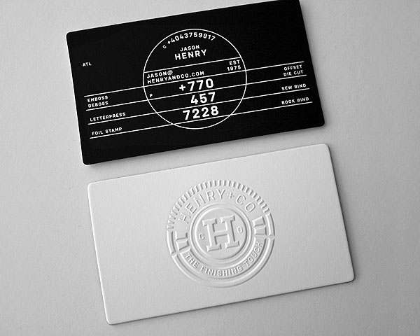5 Types of Printing Techniques for Business Cards with Examples - name card example