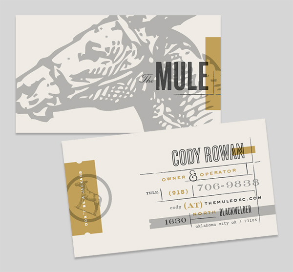 Retro business card design 30+ Beautiful Examples of Modern Business Card Designs for Inspiration