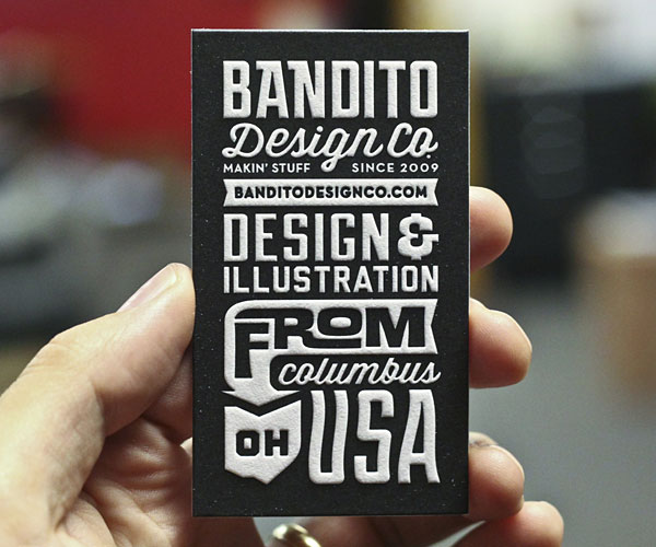 Typography in business card design 30+ Beautiful Examples of Modern Business Card Designs for Inspiration