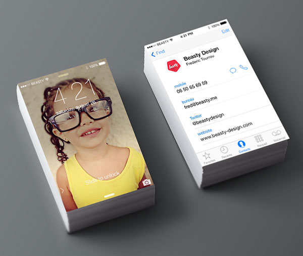 iphone business card design 30+ Beautiful Examples of Modern Business Card Designs for Inspiration