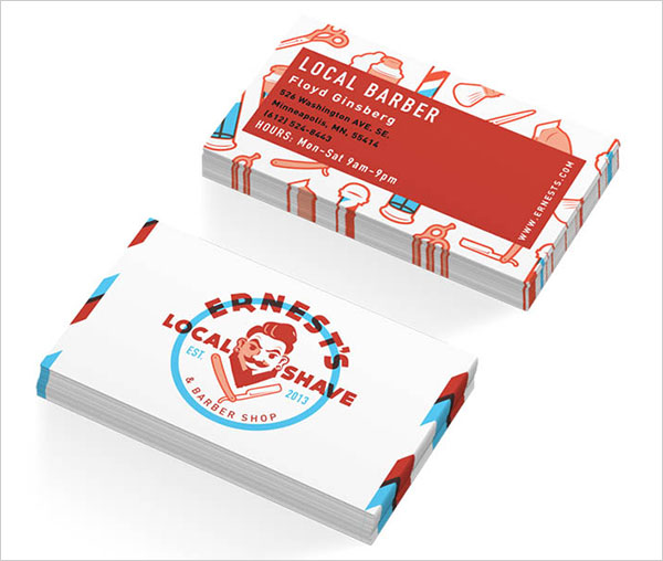 local shave barbershop business card 30+ Beautiful Examples of Modern Business Card Designs for Inspiration