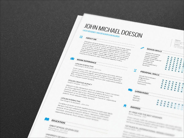10 Best Free Resume (CV) Templates in Ai, Indesign  PSD Formats - resume templates indesign