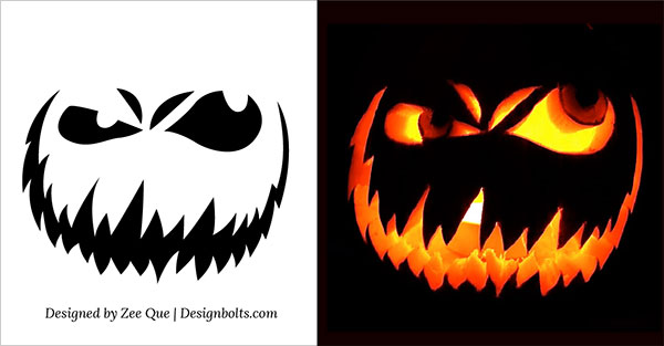 10 Free Scary Halloween Pumpkin Carving Patterns / Stencils  Ideas 2014