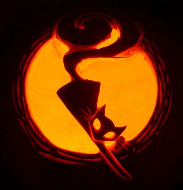 70+ Best Cool  Scary Halloween Pumpkin Carving Ideas  Designs 2014 - cat pumpkin template