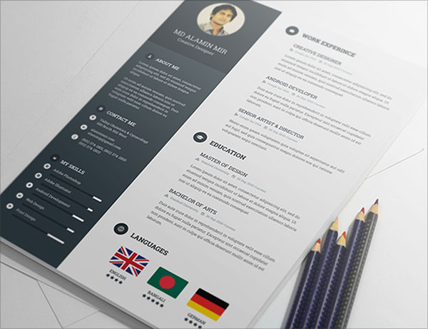20 Best Free Resume (CV) Templates in Ai, Indesign  PSD Formats