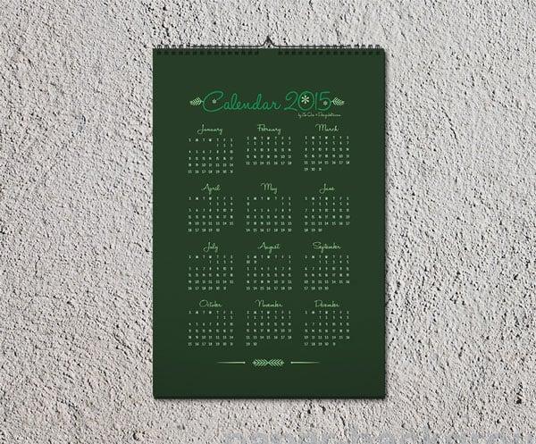 41 Cool Creative Calendar Design Ideas For 2014 Bashooka Free Wall Calendar 2015 Design Template And Mockup Psd