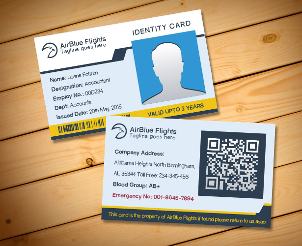 2 Free Company Employee Identity Card Design Templates - id card psd template