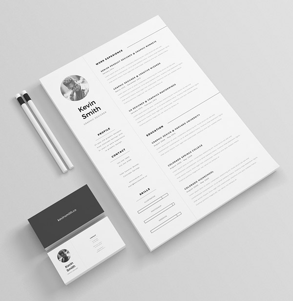 50+ Beautiful Free Resume (CV) Templates in Ai, Indesign  PSD Formats - Free Graphic Design Resume Templates