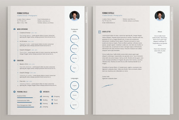 cv template business indesign free download