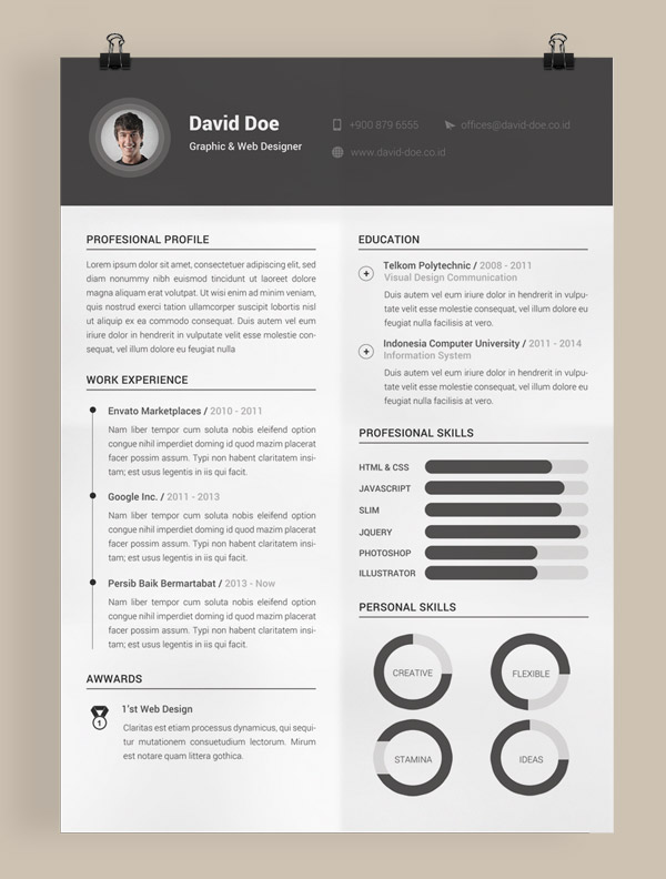 Free Cv Template Adobe Indesign Resume Template For Indesign Vita Cv On Behance 50 Beautiful Free Resume Cv Templates In Ai Indesign