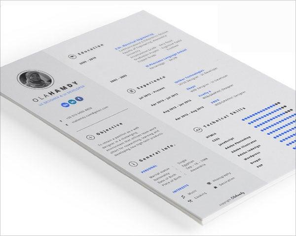 indesign template resume - Onwebioinnovate - resume templates indesign