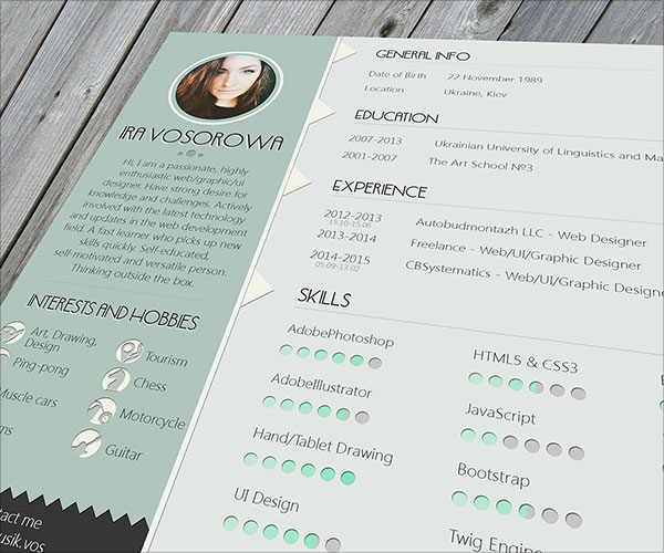50+ Beautiful Free Resume (CV) Templates in Ai, Indesign  PSD Formats - resume template psd