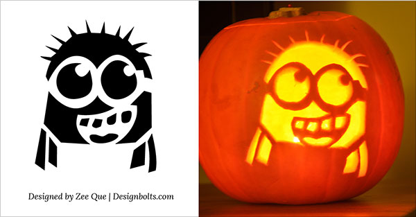 10 Best Free Minion Pumpkin Carving Stencils / Patterns  Ideas for