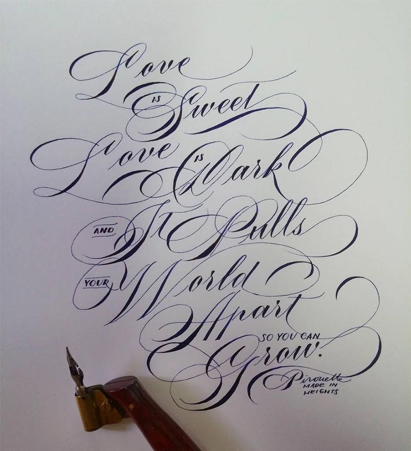 Calligraphy-And-Lettering-Design-in-Watercolor Fonts Pinterest - best font to use on a resume