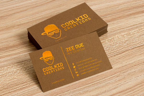 Free Brown Business Card Design Template  Mockup PSD