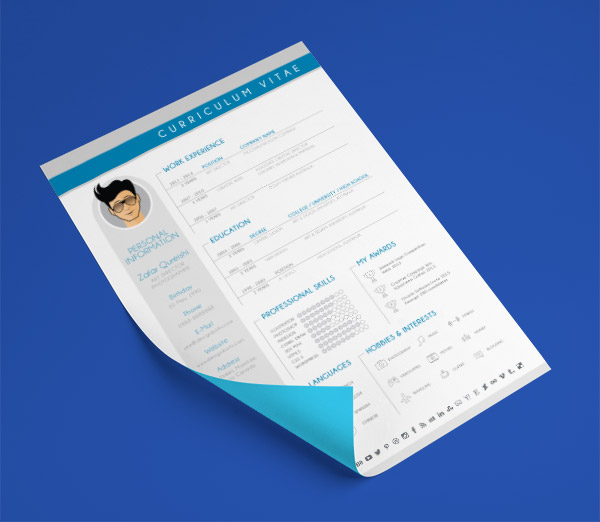 10 Best Free Resume (CV) Templates in Ai, Indesign, Word \ PSD Formats - modern resume formats
