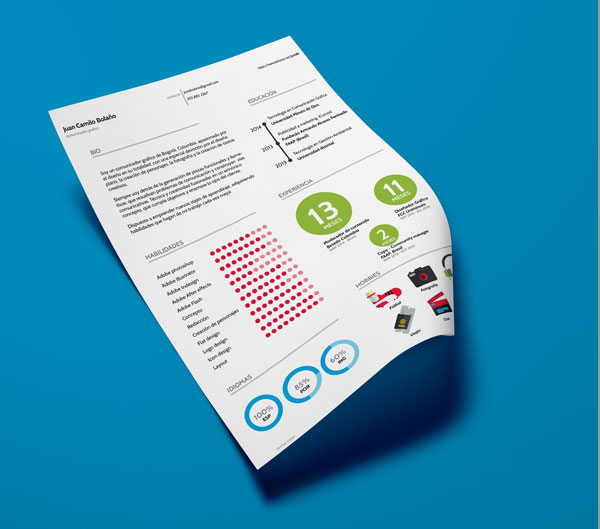 free resume cv template psd or indesign