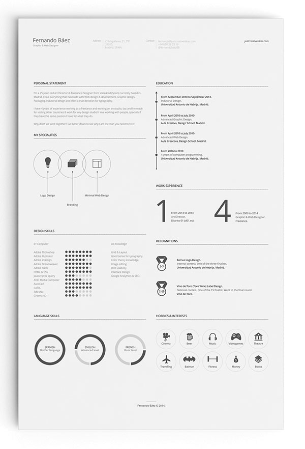 10 All time Best Free Resume (CV) Templates in Word, PSD, Ai